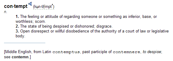 Contempt Definition